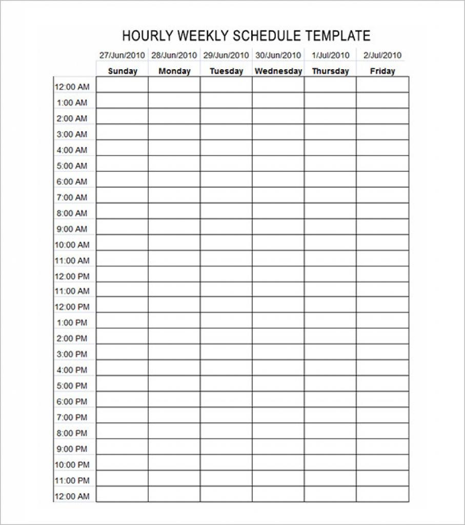 005 Hour Schedule Template Ideas Calendar Printable Online