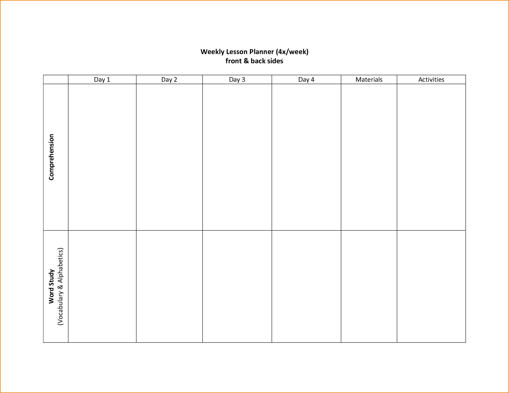 005 Template Ideas 20Schedule Two Week Planning Pdf Calendar