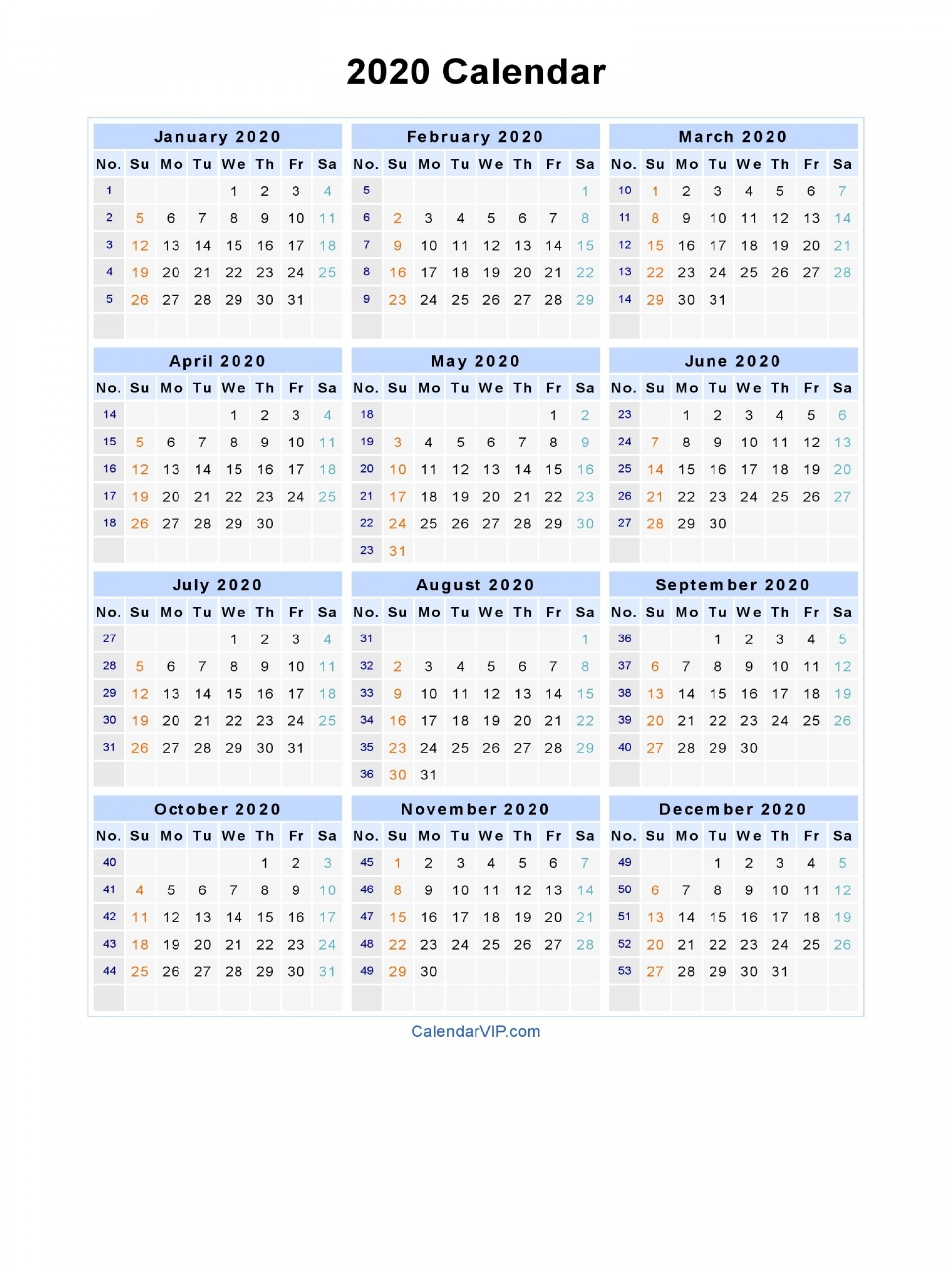 007 Calendar Blank Printable Template In Pdf Word Excel
