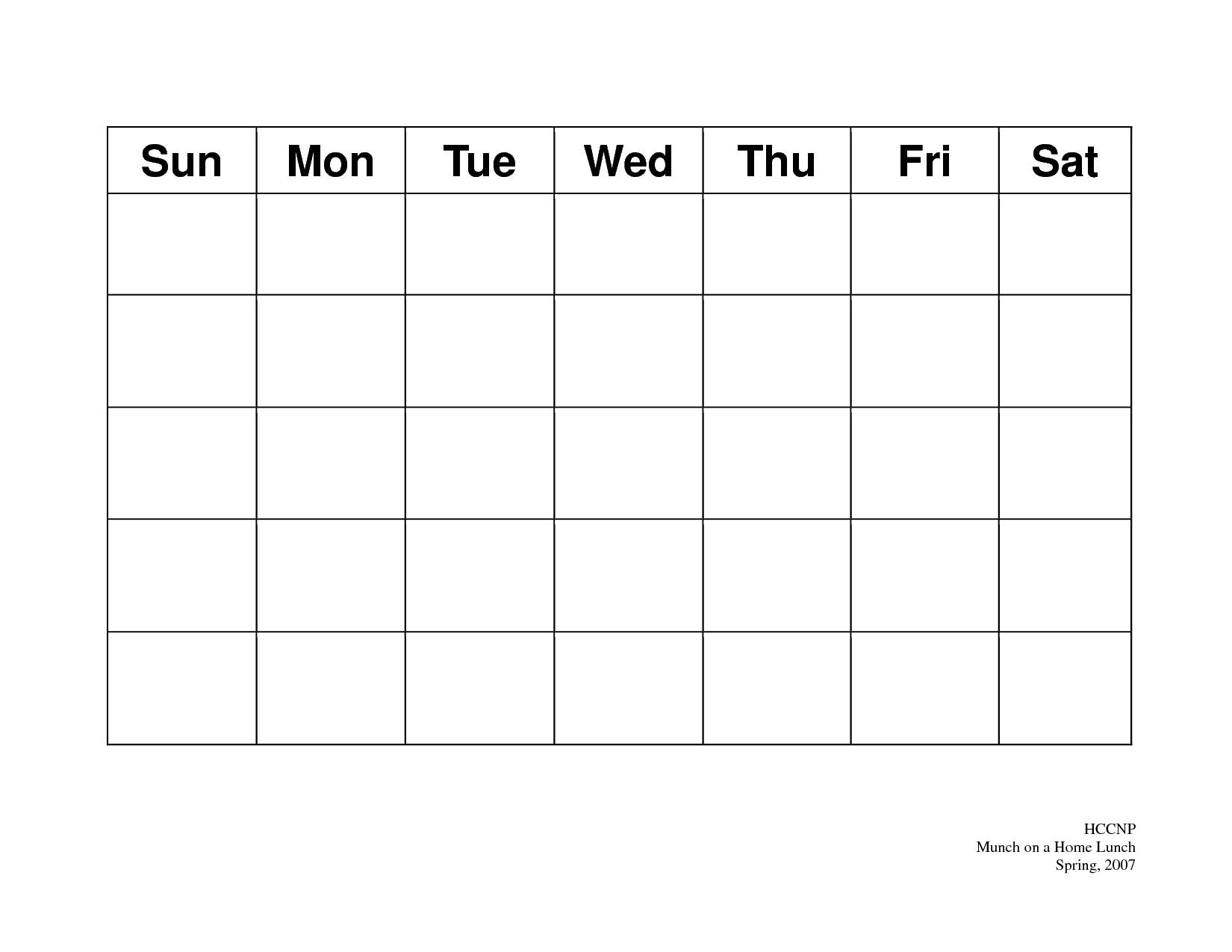 010 Blank Printable Calendar Template Ideas Top 2019 2018