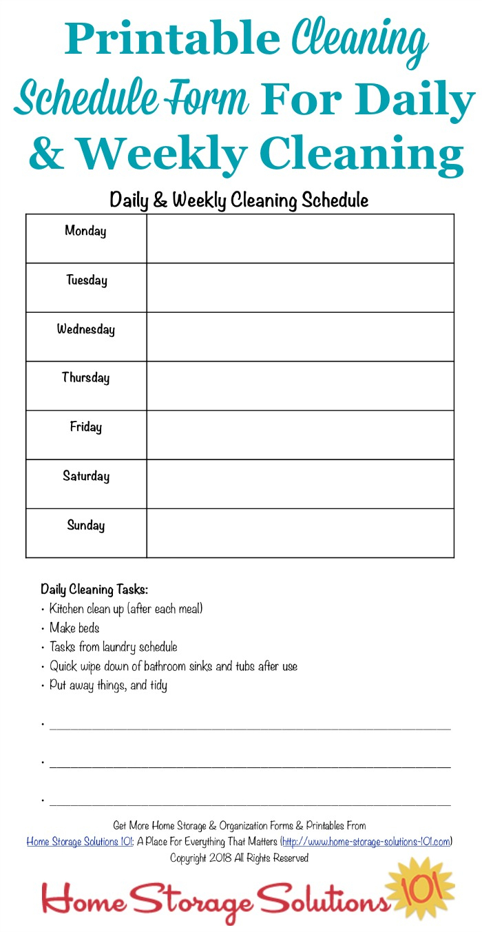 011 20Weekly Schedule20Ble Cute Template Monday Friday With