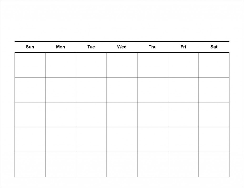 020 Free Blank Calendar Template Ideas 20Blank Weekly