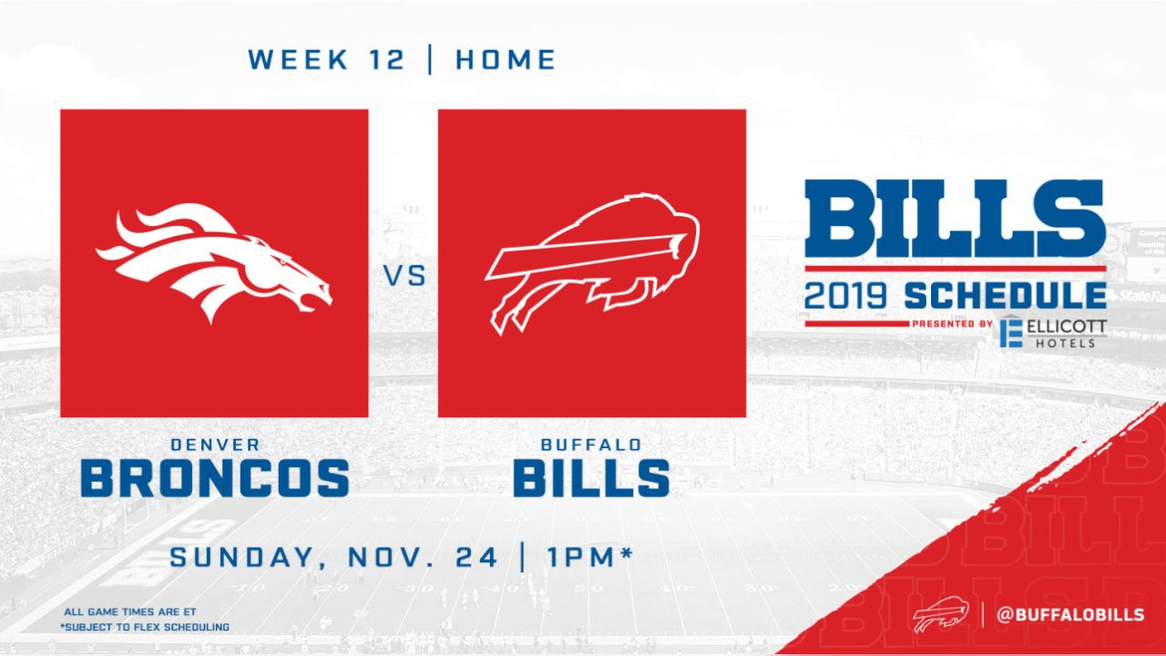 10 Things To Know About The Bills 2019 Regular Season Schedule