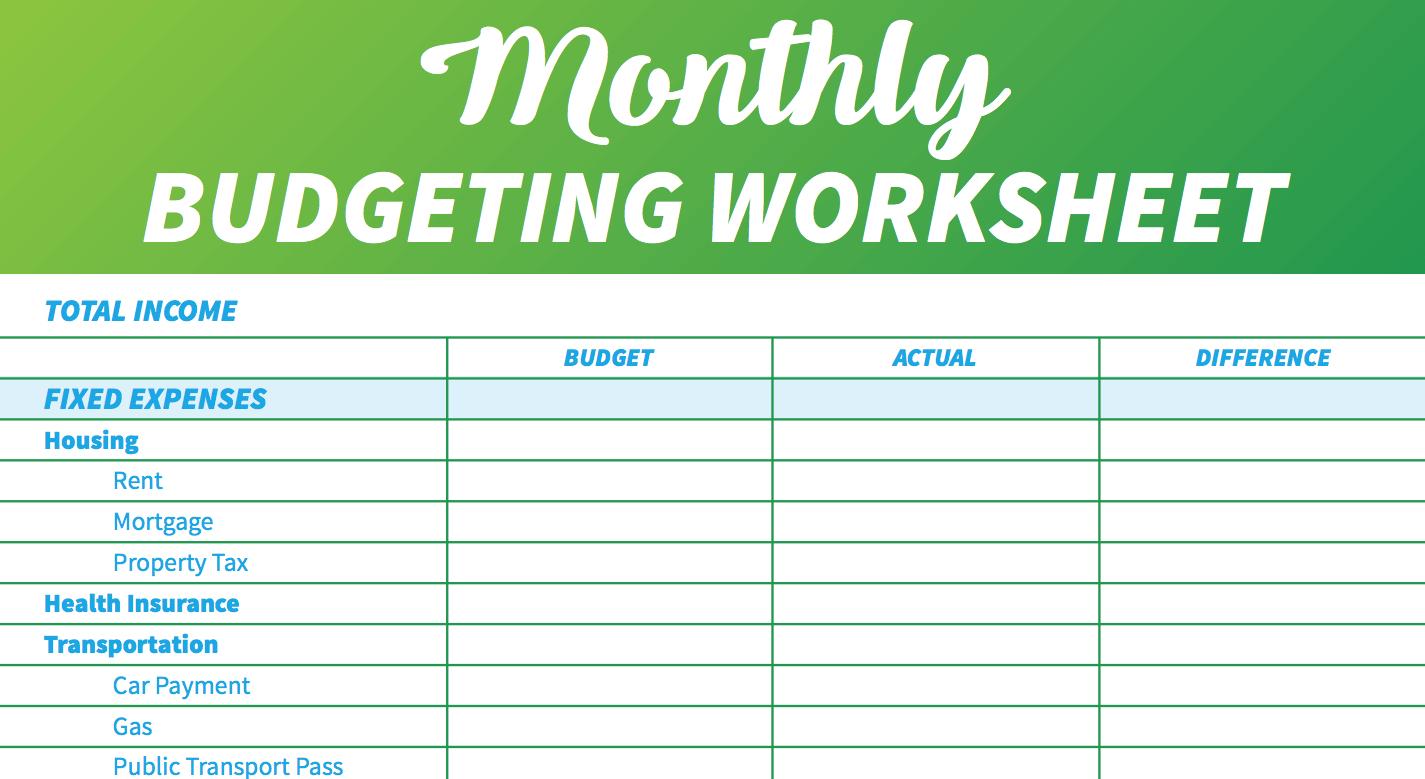 14 Easy-To-Use Free Budget Templates   Gobankingrates