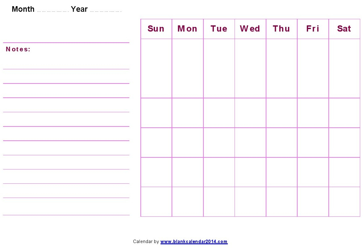 17 Blank Monthly Calendar Template Images - Printable Blank