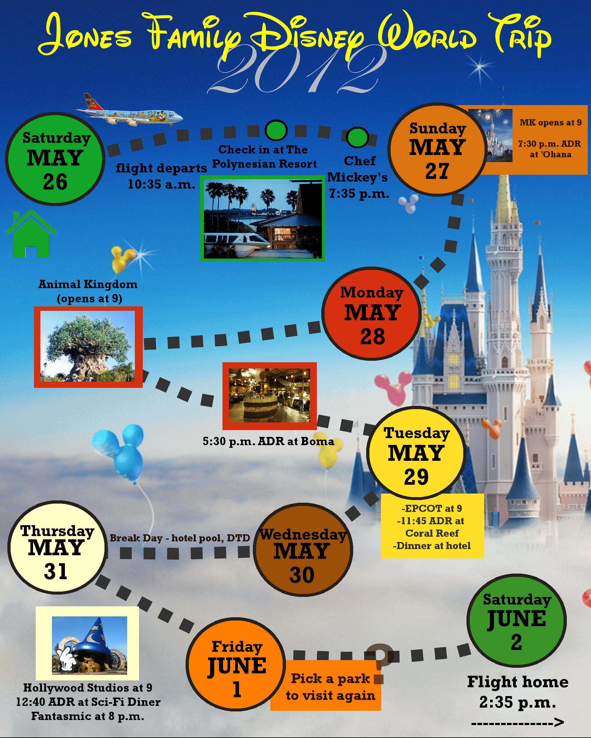 2 Custom Disney World Itinerary Templates   Wdw Prep School