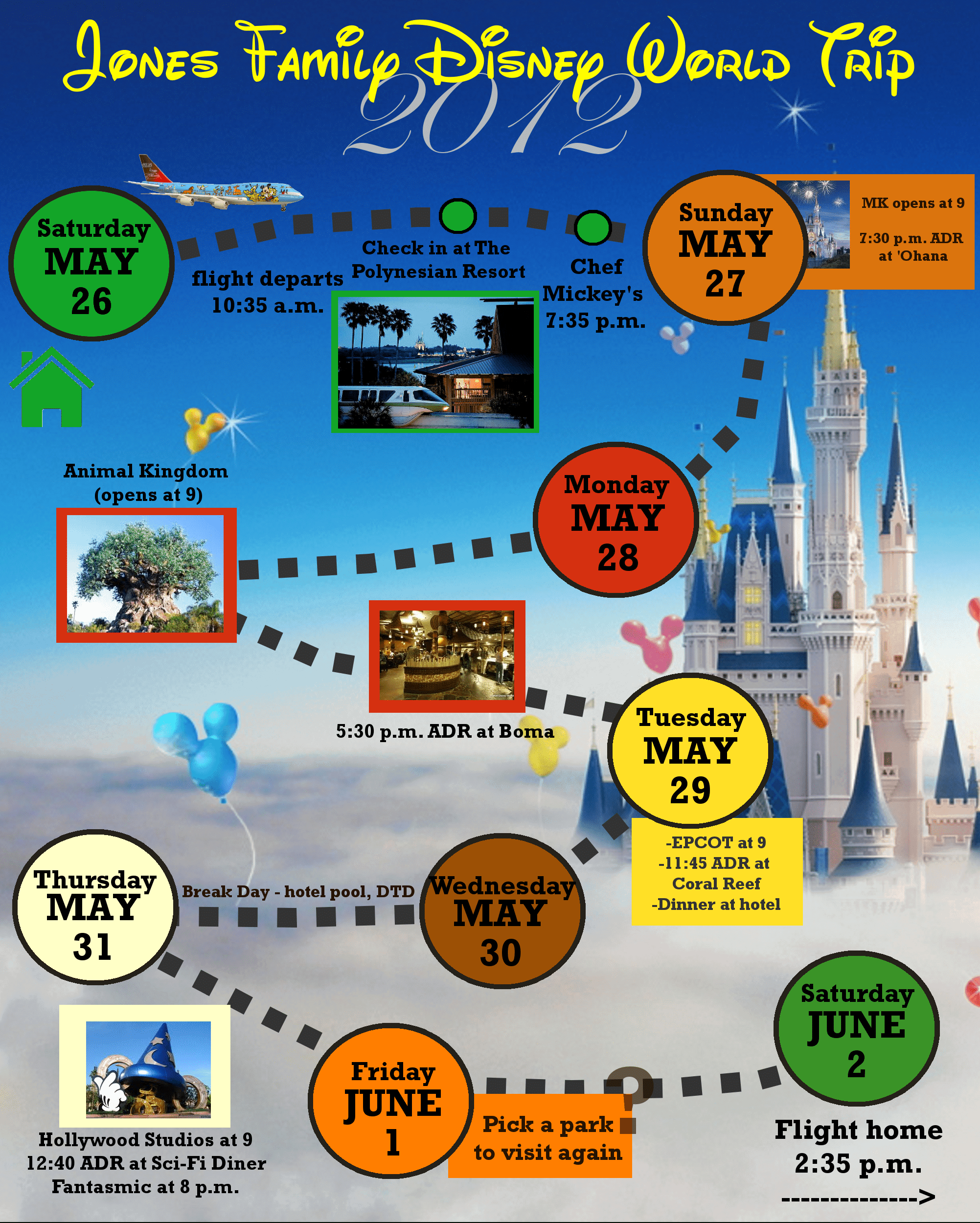 2 Custom Disney World Itinerary Templates | Wdw Prep School