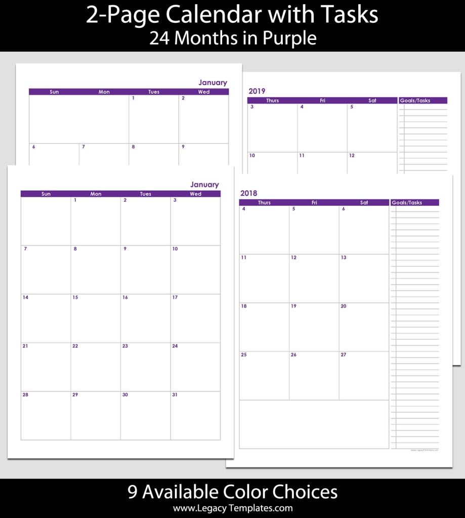 2018 & 2019 24-Month 2-Page Calendar – 8 1/2″ X 11″ | Legacy