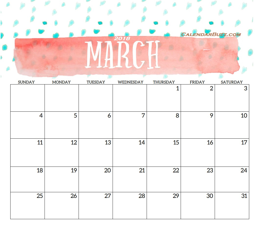 2018 Monthly Printable Templates | Latest Calendar