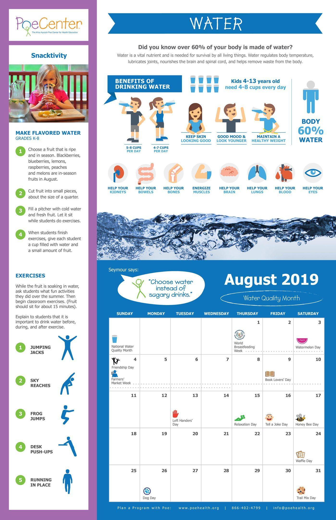 2019-2020 Nutrition & Physical Activity Classroom Calendar