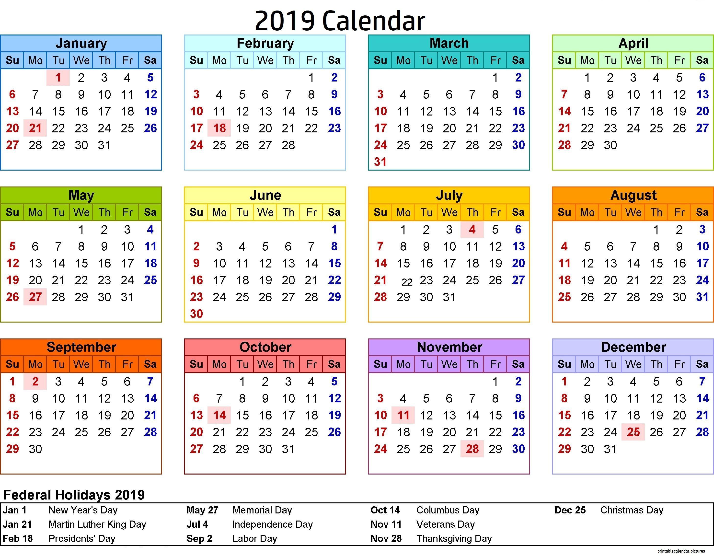 2019 Calendar Philippines With Holidays   2019 Calendar