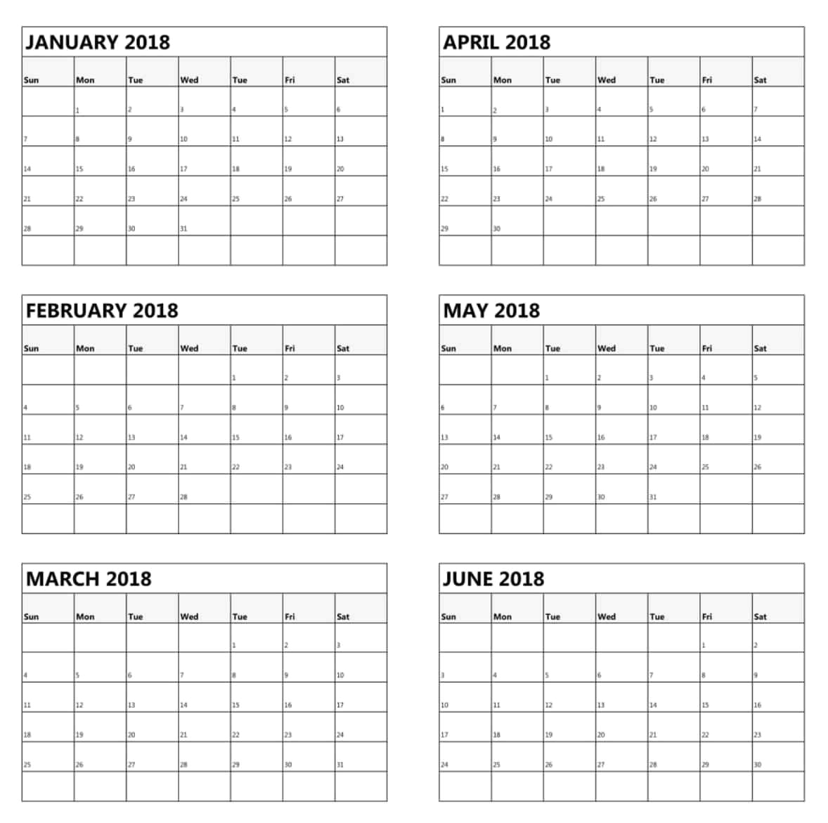 2019 Three Page Yearly Calendar And Four Months Per Page
