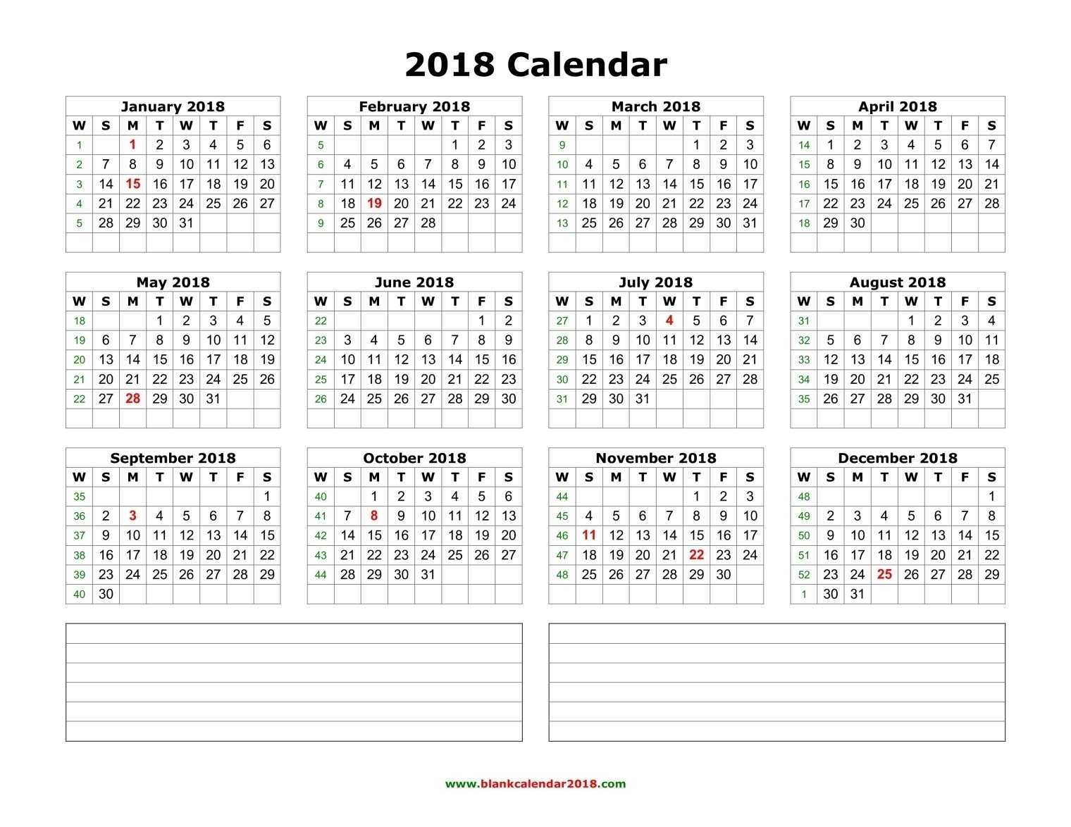 2020-2021 Calendar – Free Printable Two-Year Word Calendars
