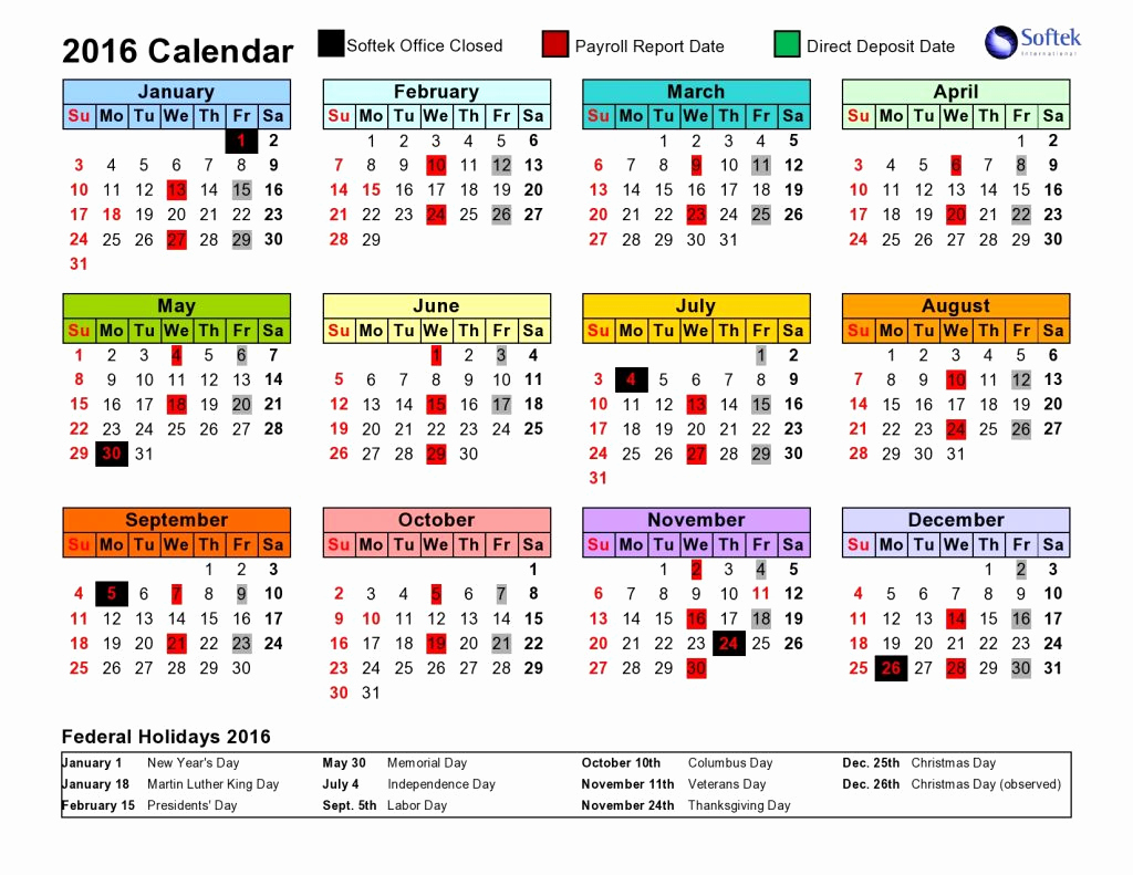 2020 Biweekly Payroll Calendar