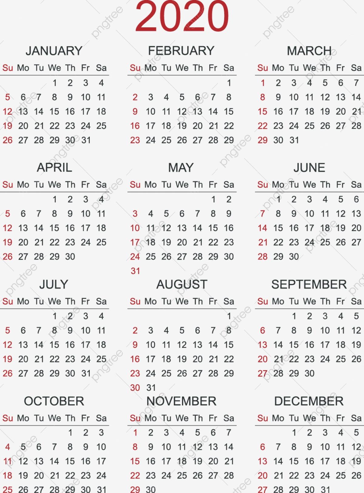 2020 Calendar Calendar 2020 Calendar Calendar 2020 Calendar