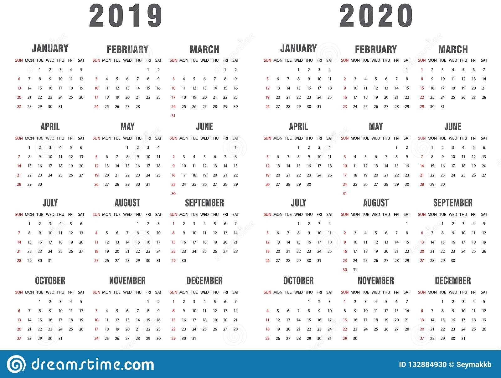 2020 Calendar Illustrator – Get Your Calendar Printable
