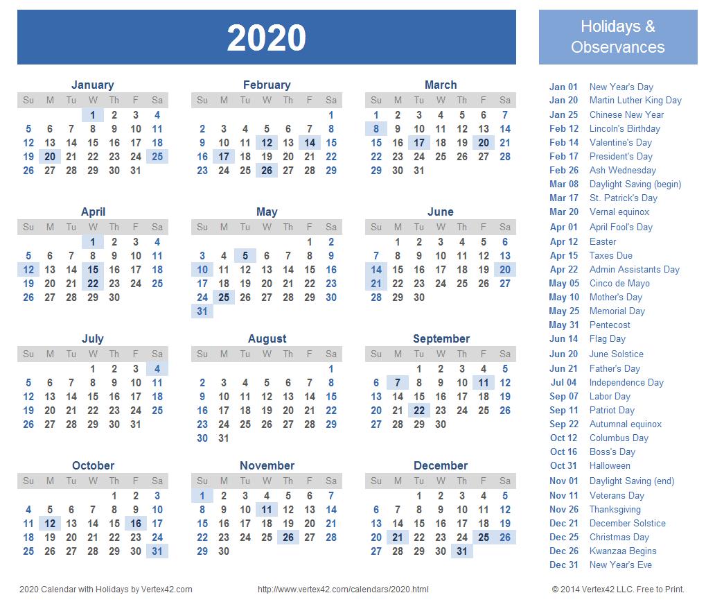 2020 Calendar Prints For Planning!   Planner   Calendar 2018