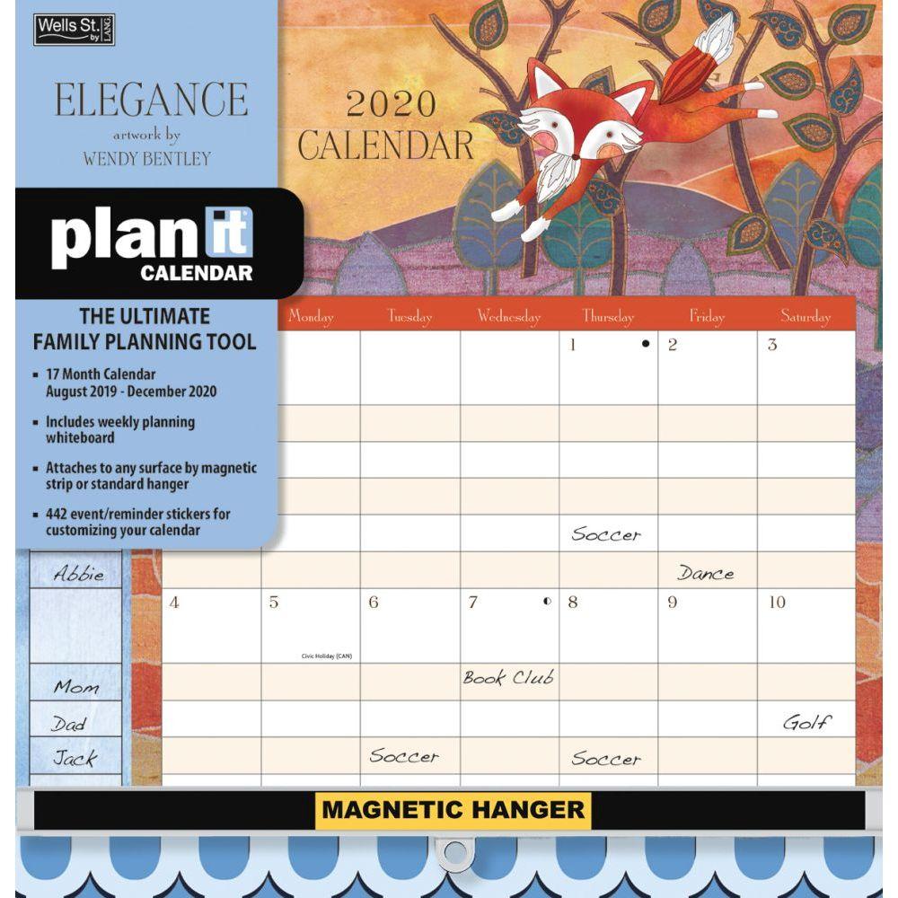 2020 Elegance Plan It Plus Wall Calendar,wells Streetlang