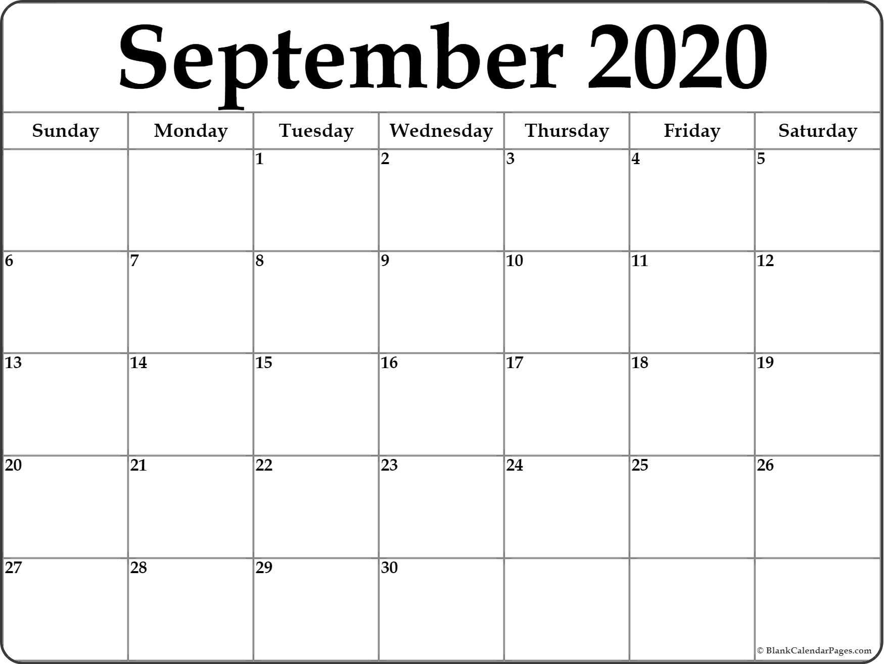 2020 Monthly Calendar Printable (January To December