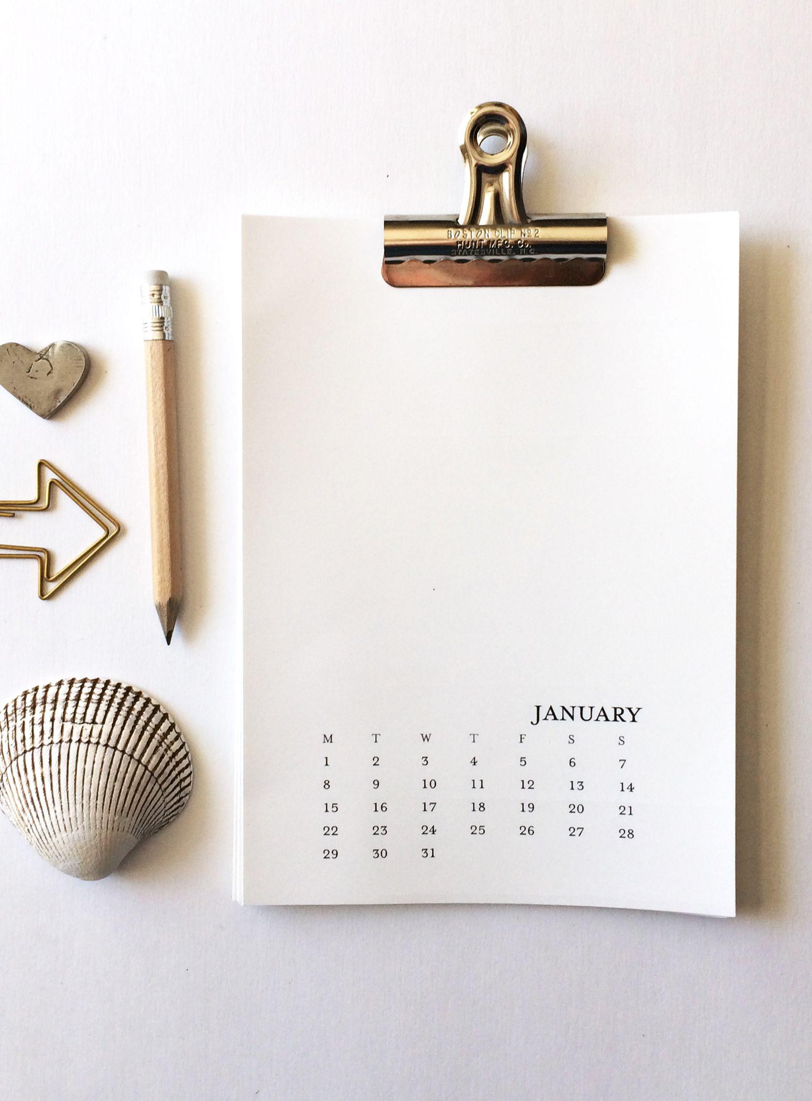 2020 Printable Calendar 5X7 Monday-Sunday - Printable