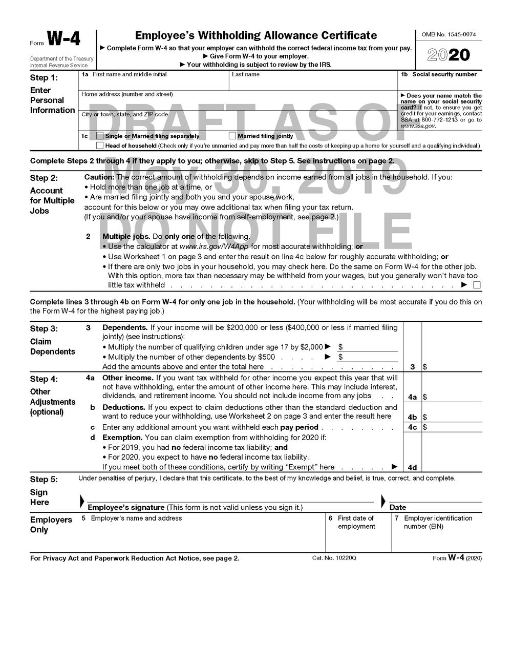 2020 W9 Blank Tax Form | Example Calendar Printable