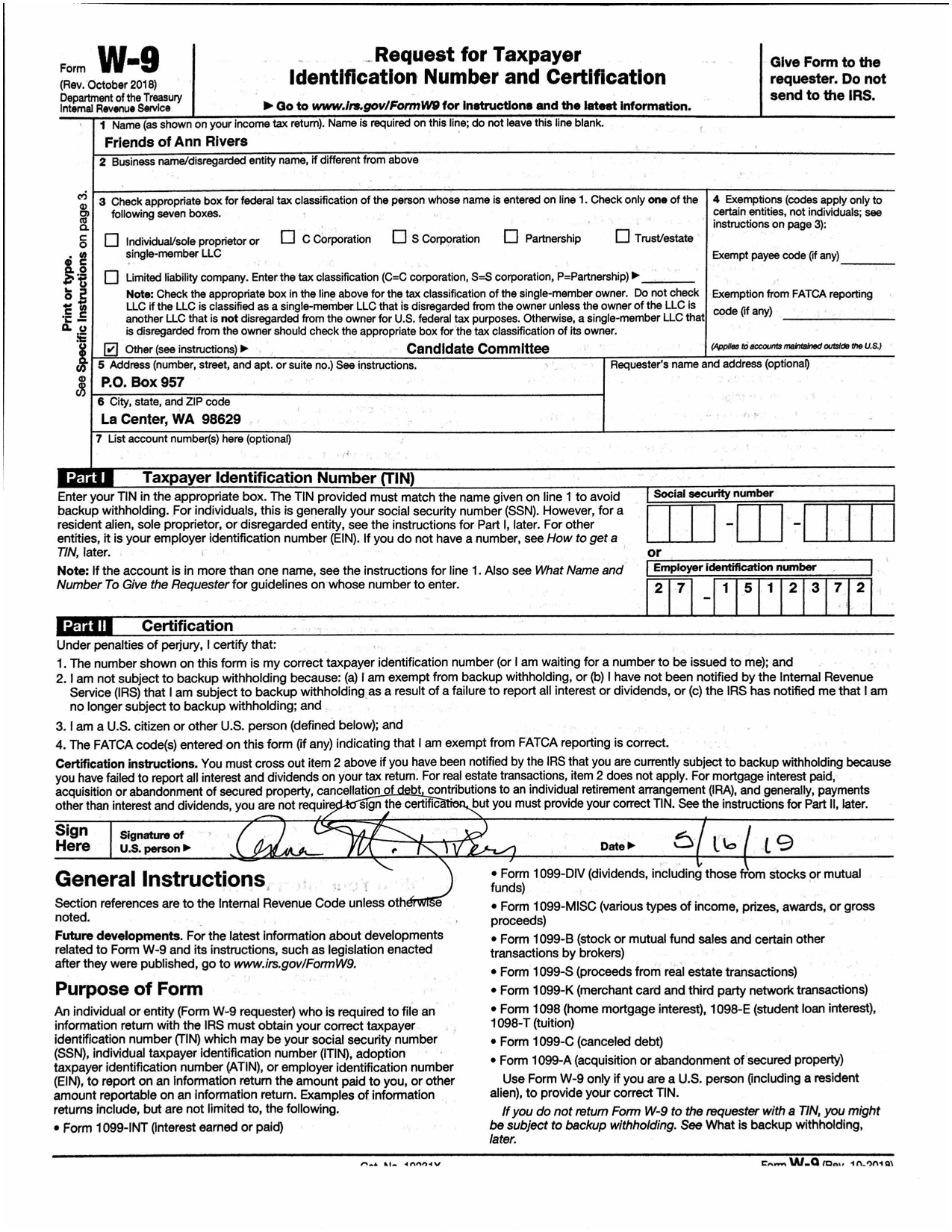 2020 W9 Blank Tax Form | Example Calendar Printable
