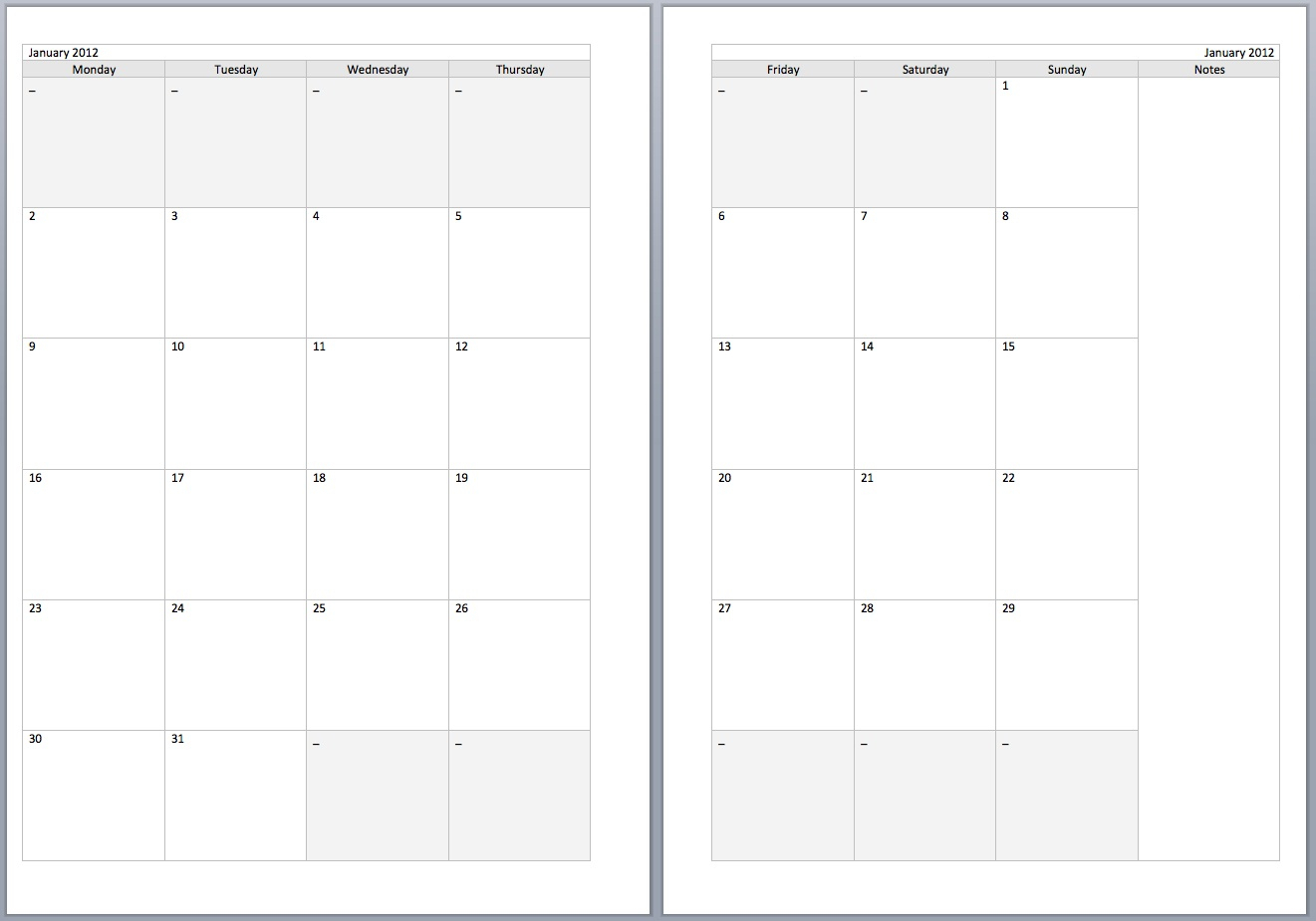 24 Images Of 2 Months Per Page Calendar Printable Template