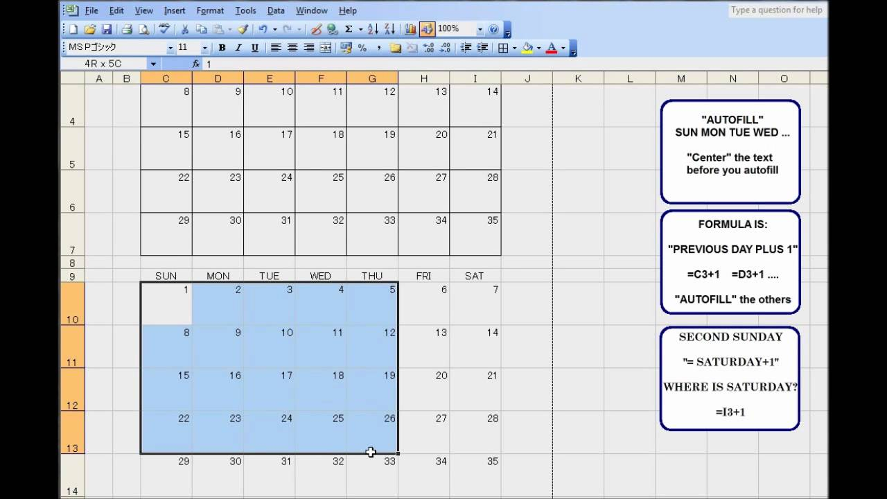 3 Month Calendar Template For Excel - An Exercise To Teach Kids Excel