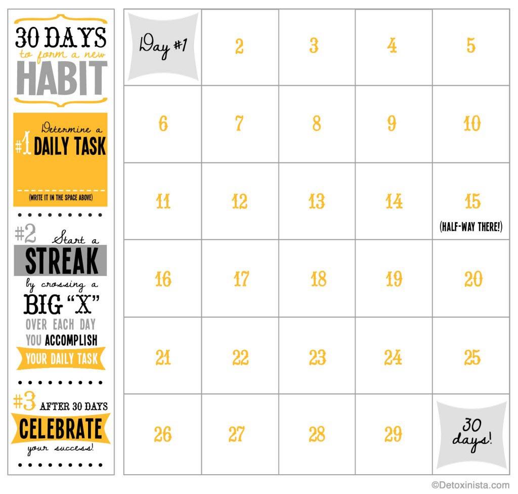 30 Day Calendar Template | Template Business