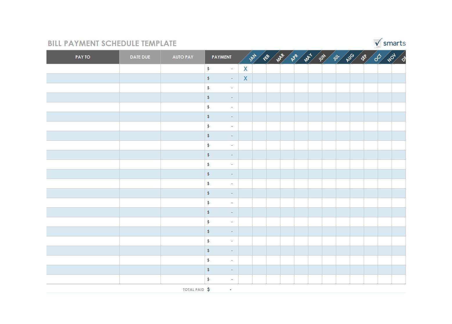 32 Free Bill Pay Checklists & Bill Calendars (Pdf, Word & Excel)