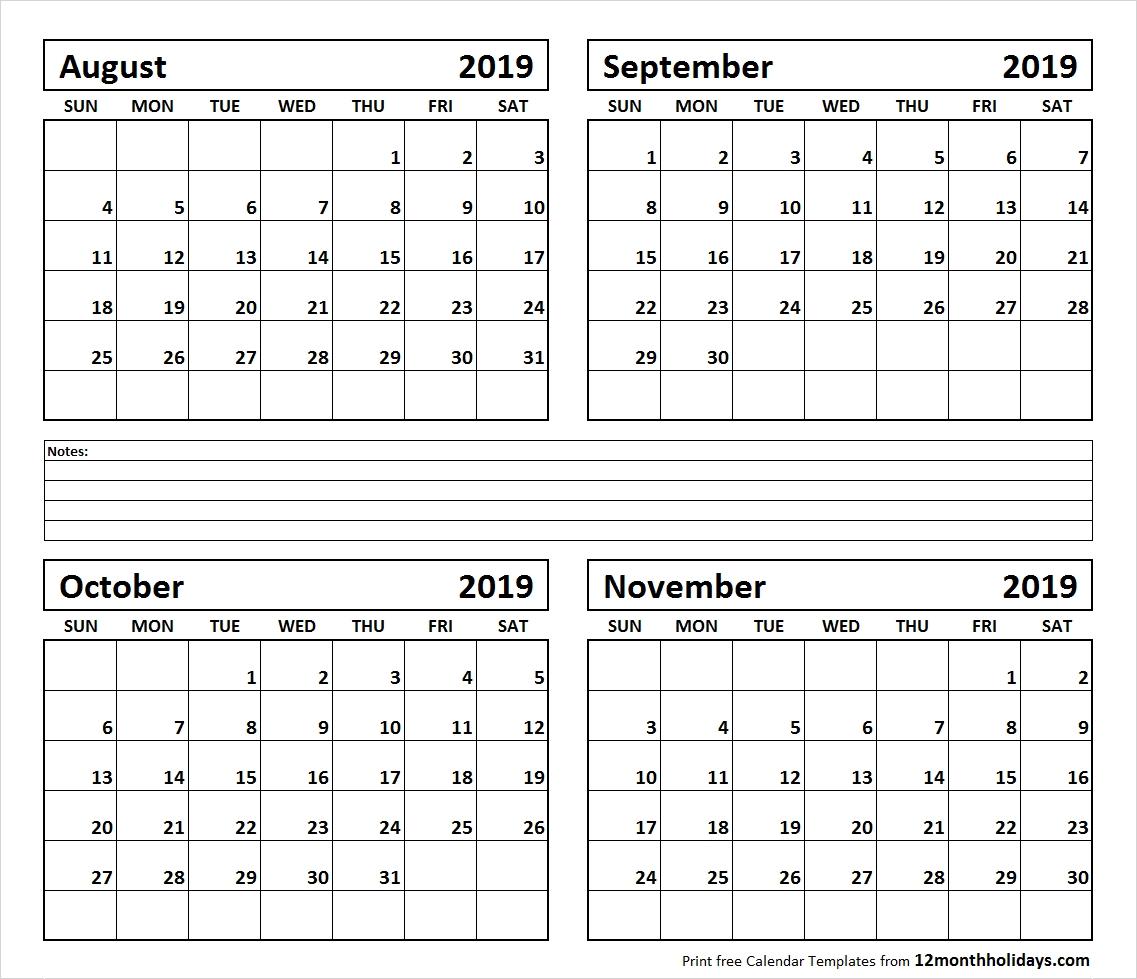4-Month-August-September-October-November-2019-Calendar