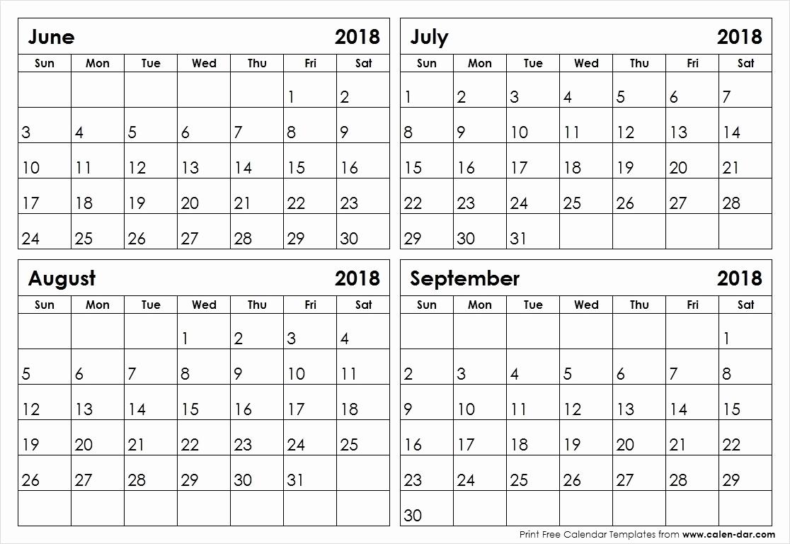 4 Month Free Printable Calendar 2019 Printable Calendar 4