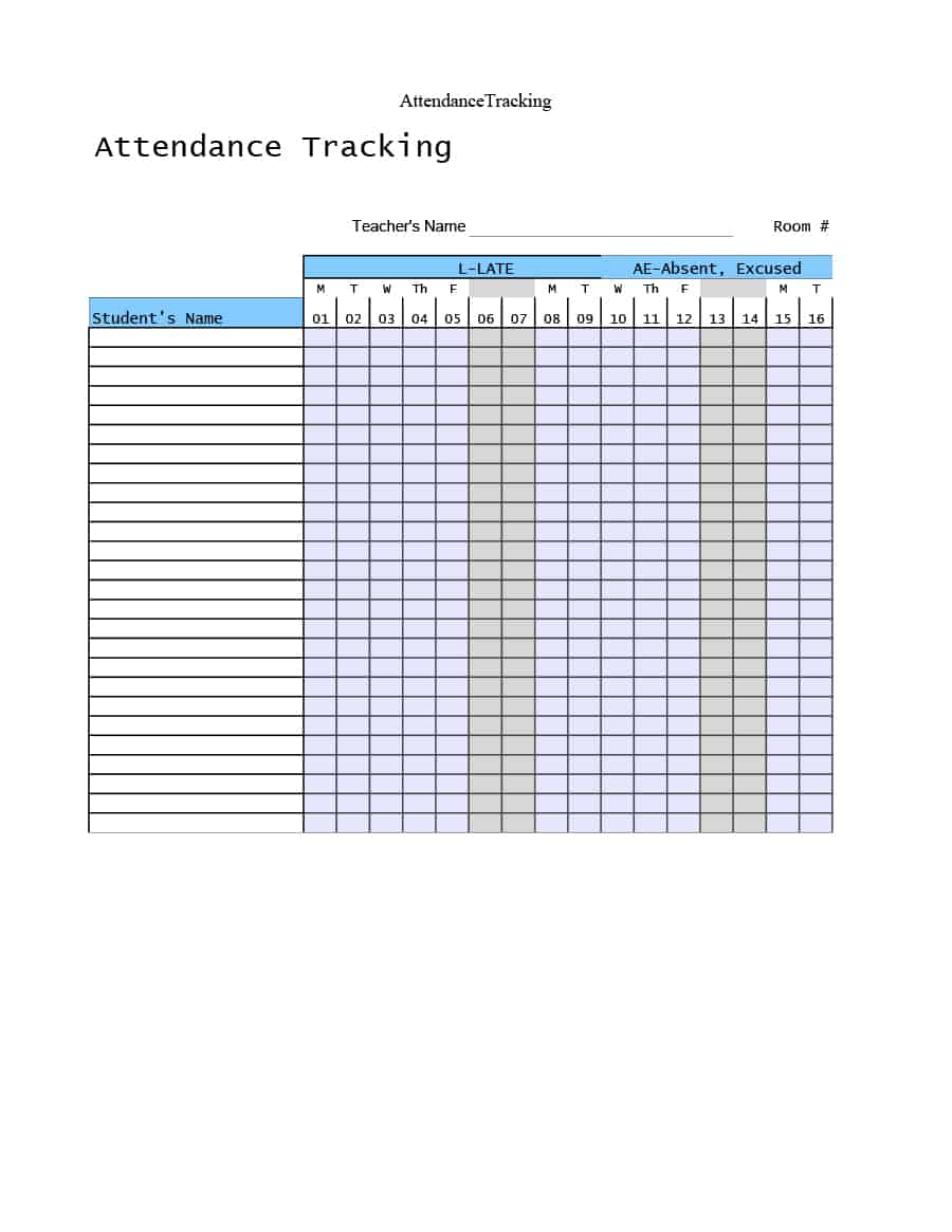 40+ Free Attendance Tracker Templates [Employee, Student