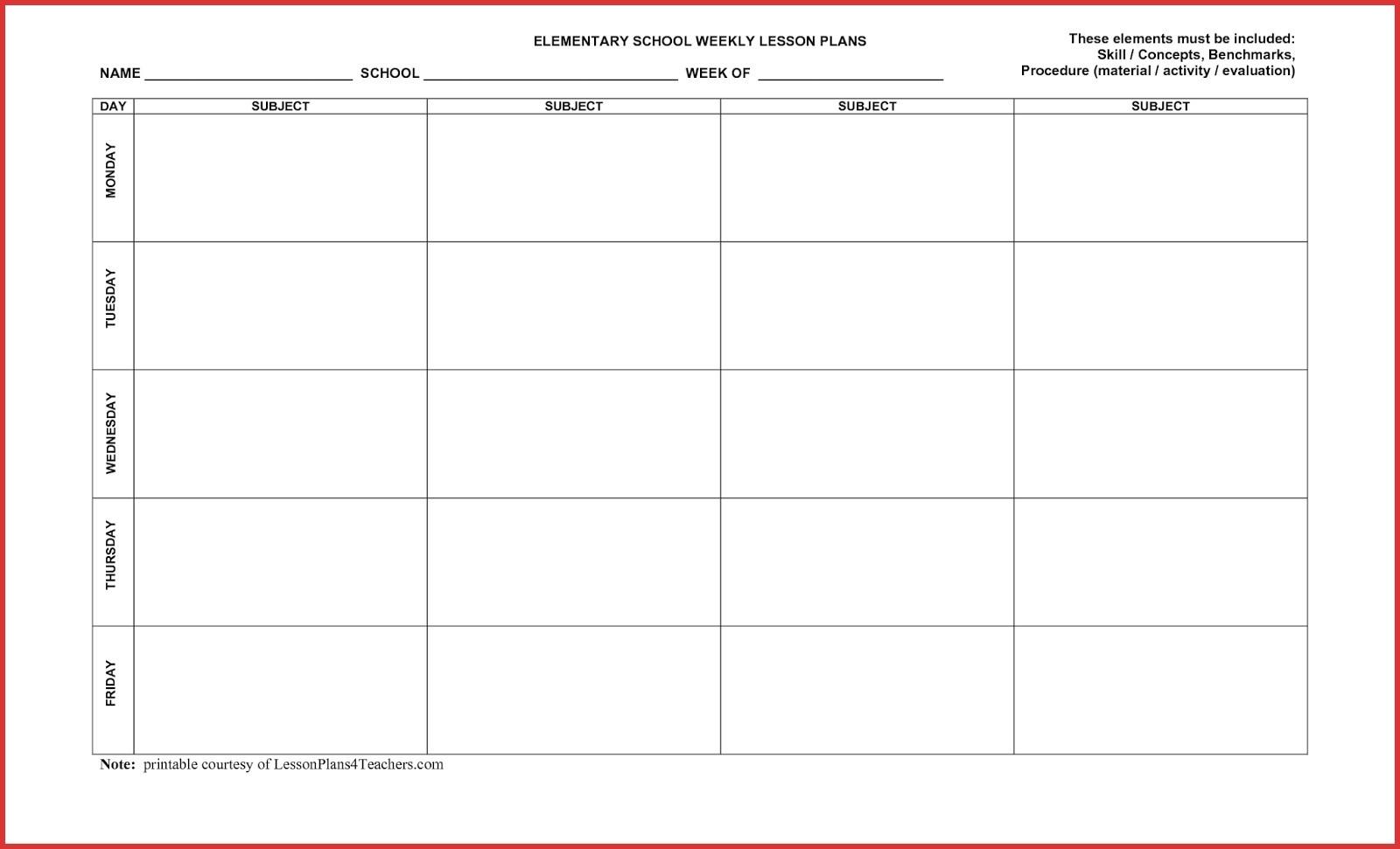 5 Day Calendar Monthly • Printable Blank Calendar Template