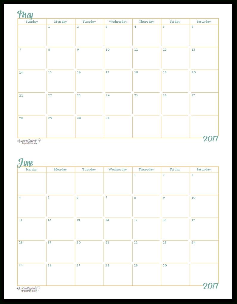 5X8 Calendar Planner Templates Printable | Template Calendar