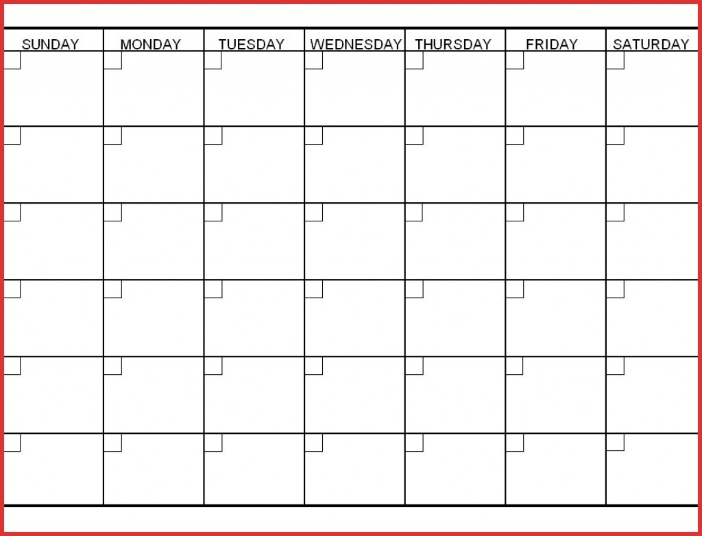 6 Week Blank Calendar Printable | Calendar Design Ideas