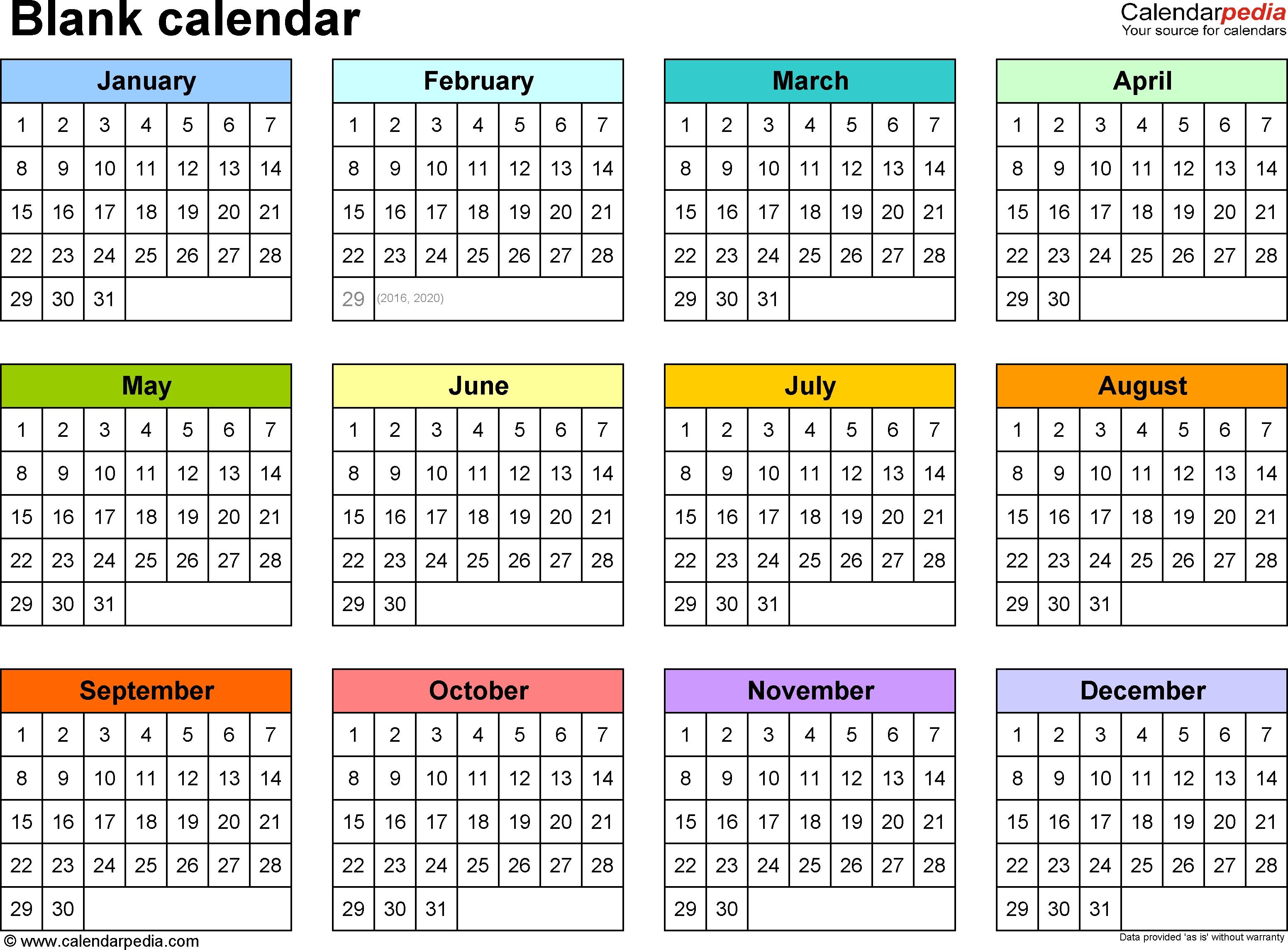 6 X 9 Calendar Template | One Page Calendar Printable