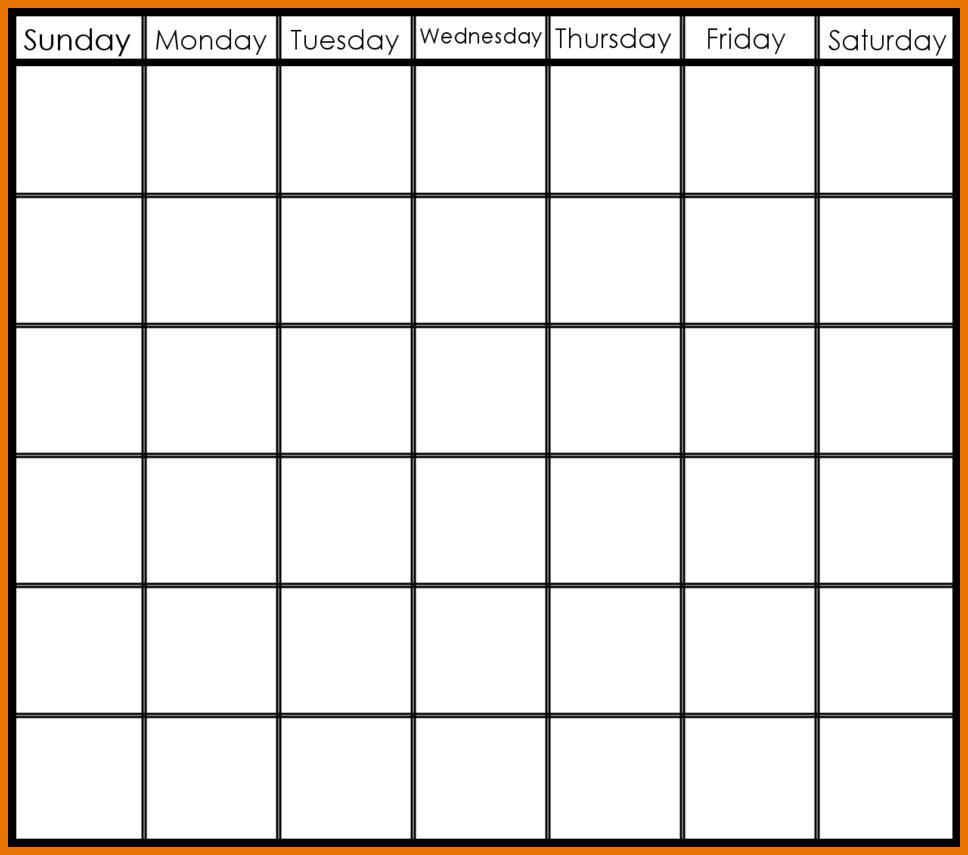 7 Weeks Calendar Template | Example Calendar Printable