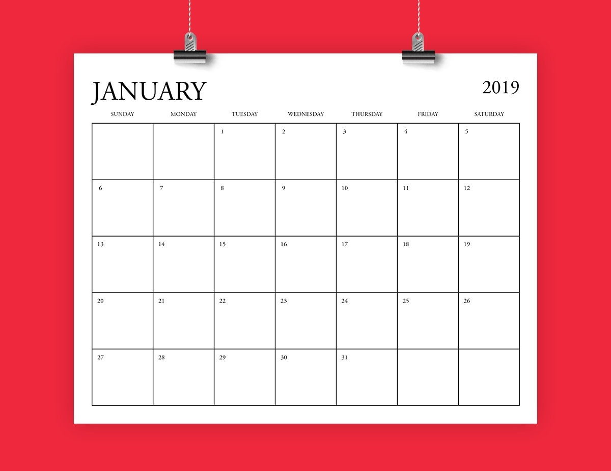 8.5 X 14 Calendar Template • Printable Blank Calendar Template