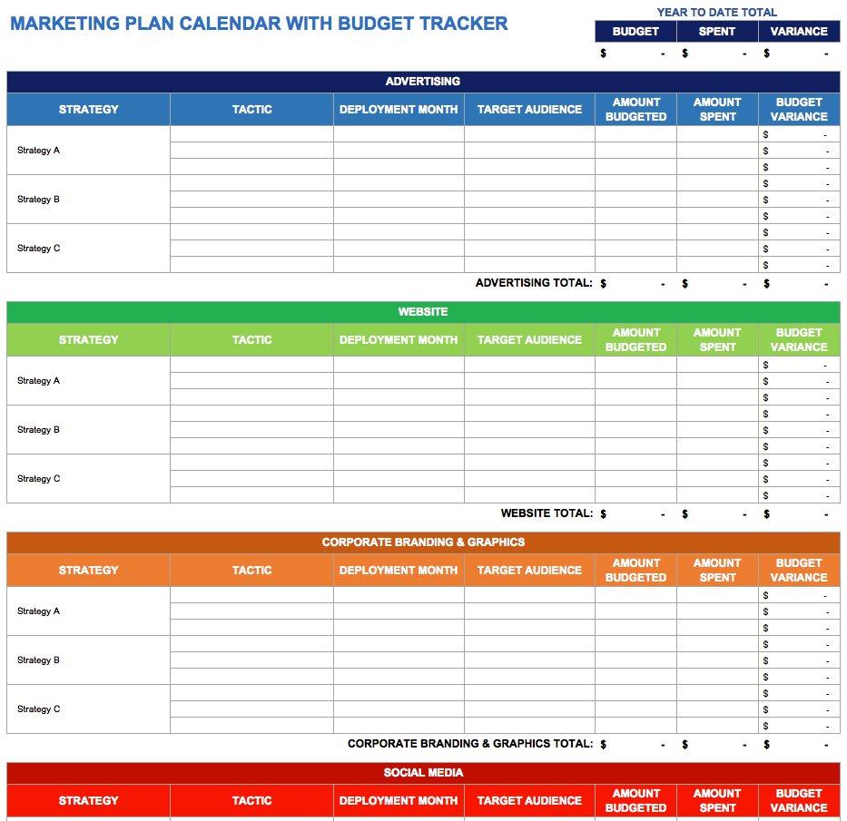 Blog Post Schedule Template 2020
