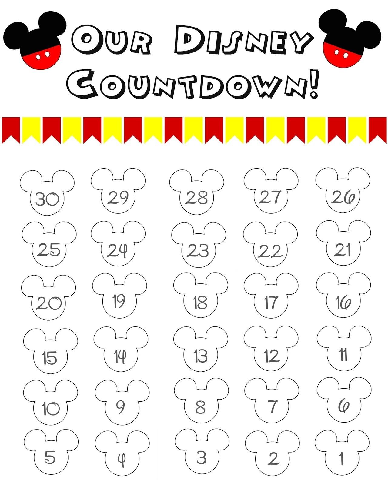 99 Days To Disney Printable Calendar - Calendar Inspiration