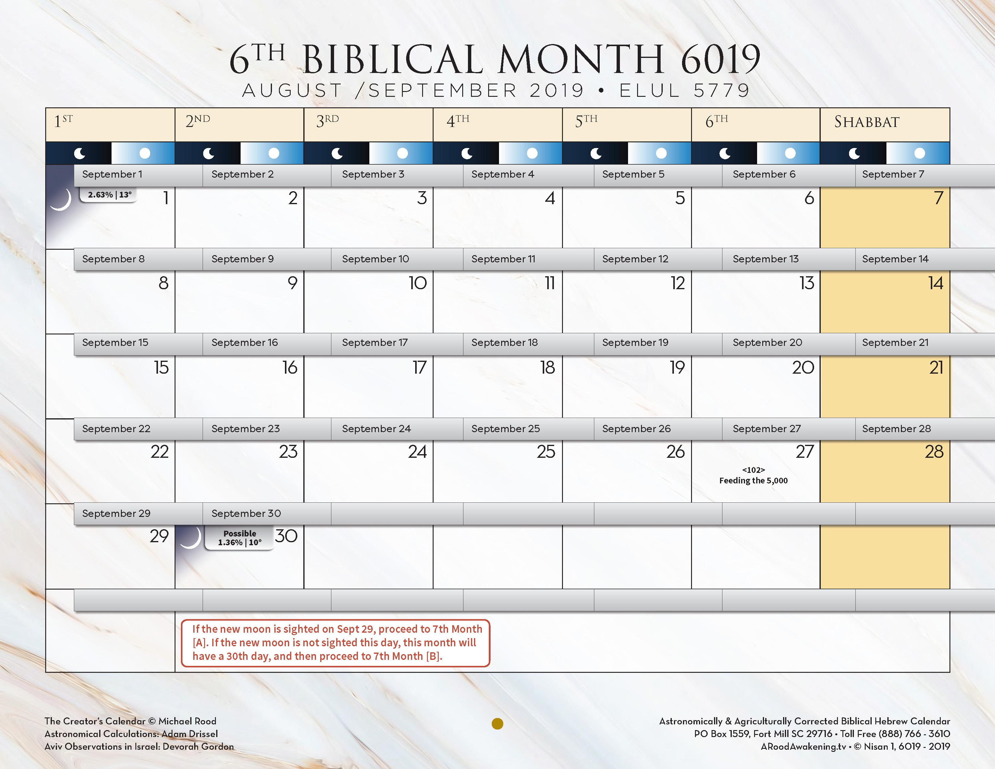 A Rood Awakening – Biblical Hebrew Calendar