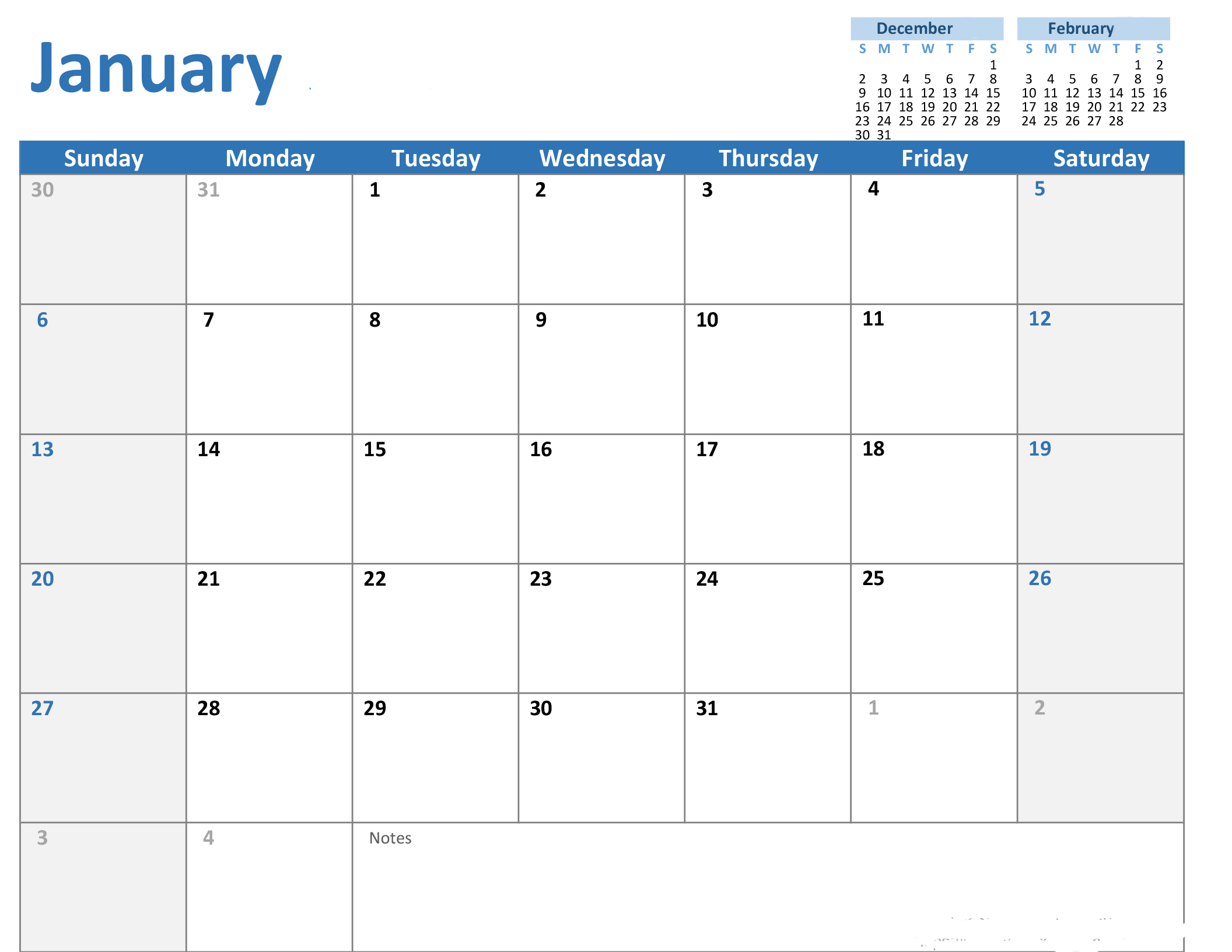 Any Year Custom Calendar