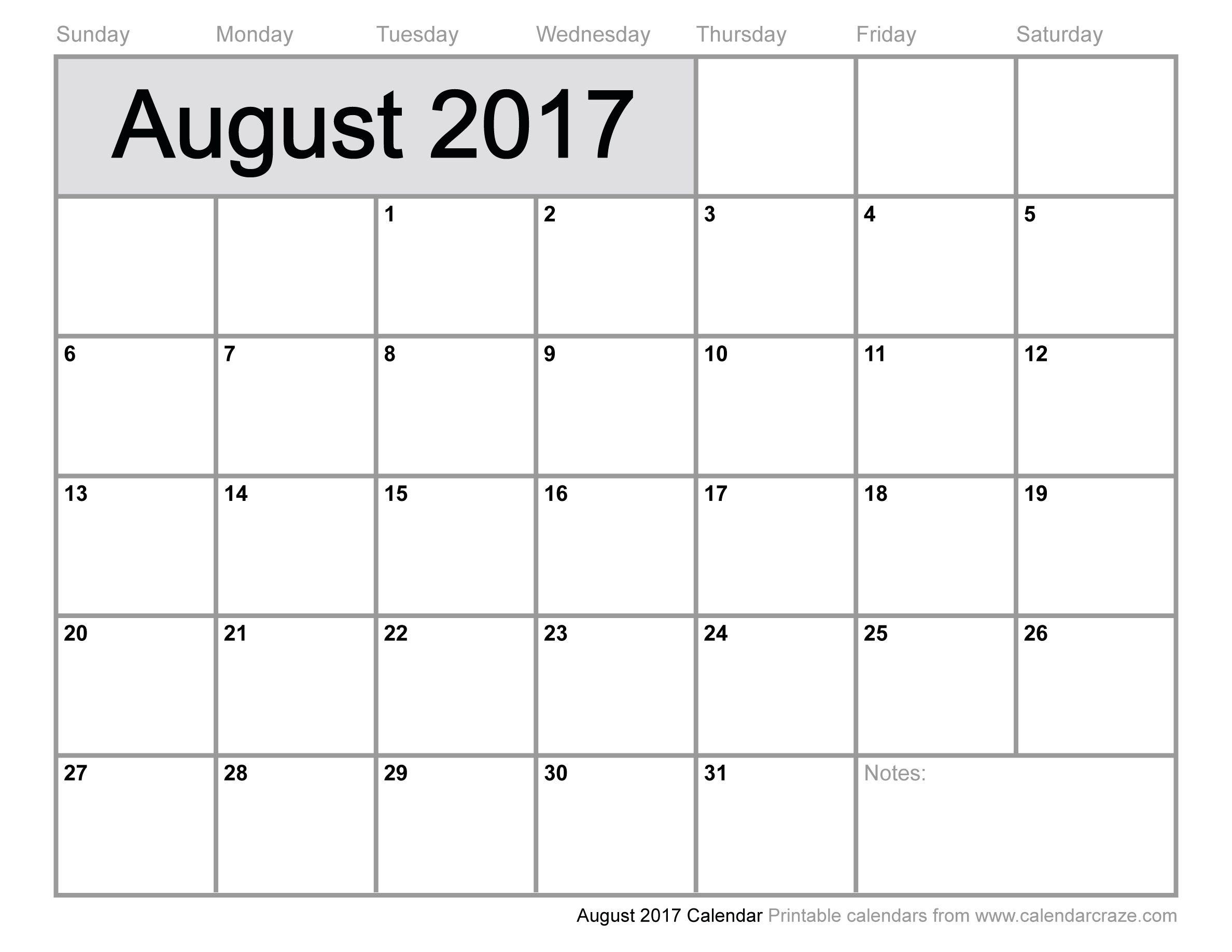 August 2017 Calendar Uk, August 2017 Uk Calendar, August