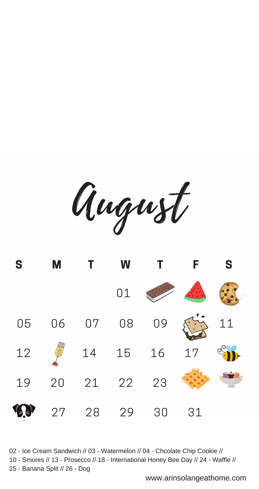 August National Days   Printables   National Holiday