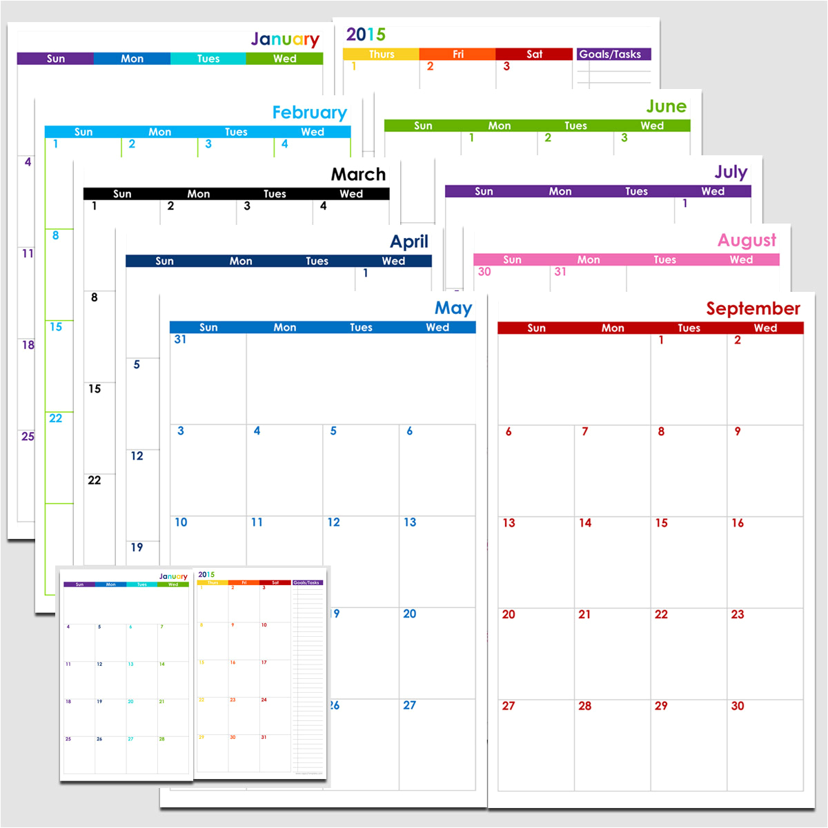 Awesome 35 Sample Printable 2 Month Calendar Page Calendar