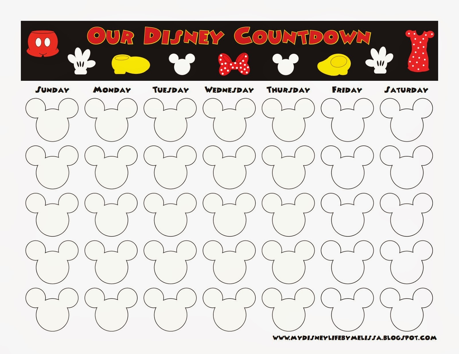 Awesome Countdown Calendar Printable | Free Printable