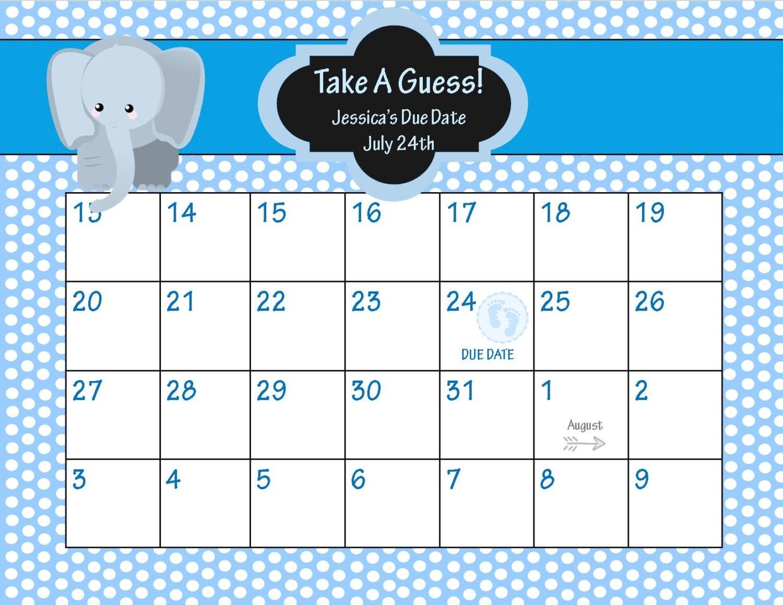 Baby Countdown Calendar Printable • Printable Blank Calendar