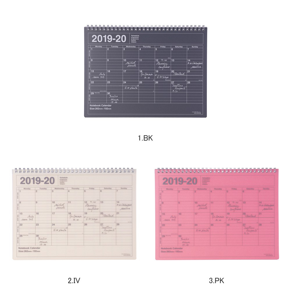 Begin Notebook 2019 Schedule Book Diary Monthly April, 2019; Notebook  Calendar M Marks