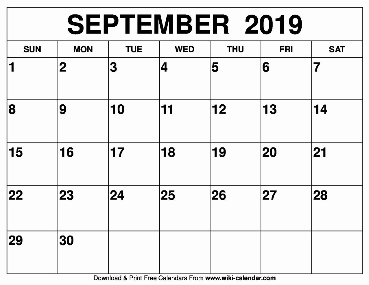 Best Of 32 Sample Printable Calendar September Through